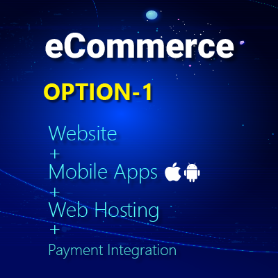 ecommerce - website, mobile apps, web hosting, payment integration